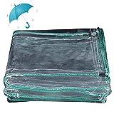 HLEF Lona Impermeable de Exterior, Lonas Impermeable de Proteccion Transparente Invierno A Prueba de Viento Resistente a Prueba de Lluvia para jardín toldo 450g/m²,2X3m/6.5x10ft