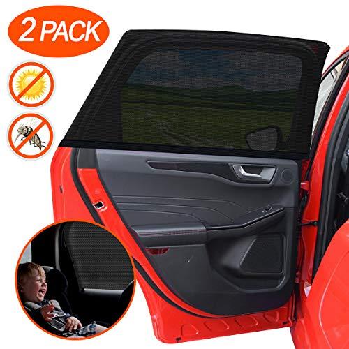 """DYFFLE 2 Stück Sonnenschutz Auto Baby mit UV Schutz - Sonnenschutz Autofenster, Windowsox für Kinder, Sonnenschutz Kinder Auto Accessoires, Auto Sonnenschutz Baby, 40\""""x20\"""" für Die Meisten Auto"""