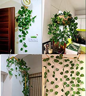 BS AMOR Artificial Garland Money Plant Leaf Bail/Creeper | Wall Hanging | Speacial Ocassion Decoration | Home Decor Party...