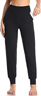 Pantalones de Deporte para Mujer con 4 Bolsillos Cintura Alta Jogger de Gimnasia Yoga