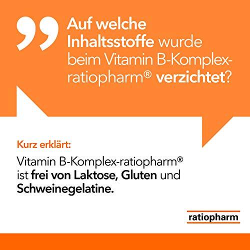 Vitamin B-Komplex-ratiopharm Hartkapseln: Kombipräparat zur gezielten Vitaminversorgung bei Mehrbedarf an B-Vitaminen, 120 Kapseln