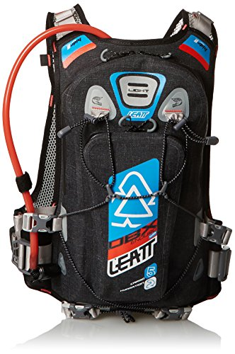 Leatt DBX Enduro Mochila de hidratación Unisex, Color Negro/Azul/Naranja
