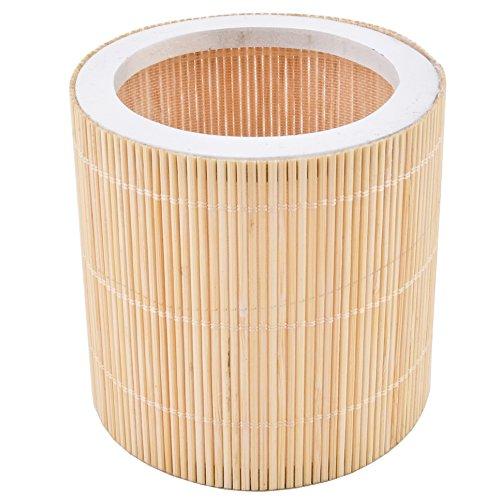 Dadeldo Windlicht rund Bambus Design Natur Asia Garten (8x8x8cm)