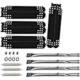 Grill Replacement Parts for Charbroil 463436215, 463436214, 463436213, 467300115, 463234413, 466342014 Gas Grills, Grill Burner Pipe Tube, Heat Plate Tent Shield, Carryover Tube, Grill Igniter