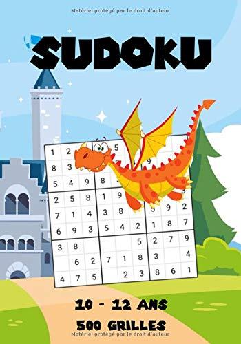 SUDOKU: Livre de jeux Dragon pour Enfants / Cahier d'activités Chevalier pour garçons de 10 à 12 ans | 500 Grilles de SUDOKU 9x9 Facile - Moyen - Difficile