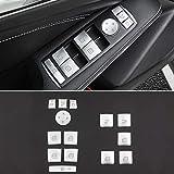 Molduras Interiores de Coche For Ascensor accesorios del coche A B C E GLA CLA GLK GL ML GLE Clase ventana de coche de cristal etiqueta engomada del botón Interior Accessories del coche