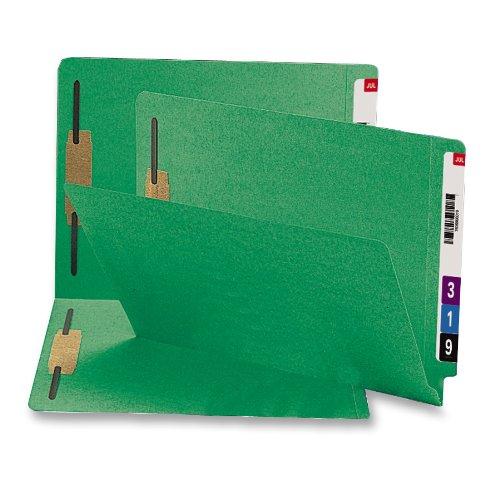 SMEAD100%재활용 엔드 탭을 체결 파일 폴더 2 파스너 선반-마스터 바로 강화 절단 TAB 글자 크기 녹색 50 당 상자에(34172)
