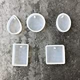 XIAOHUTAO 1 / 5pcs / Set Gota de agua Epoxy Molde de silicona Cristal Diamante Pulsera Colgante Joyas Domo Molde Resina Molde Molde Craft, 5pcs Set