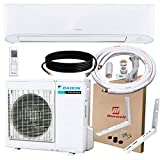 DAIKIN 12,000 BTU 17 SEER Wall-Mounted Ductless Mini-Split A/C Heat Pump System Maxwell 15-ft Installation Kit (230V)