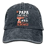 Jopath IF PAPA Can't Fix It We 're All Screwed - Gorro de béisbol para verano, sombrero para el sol, pesca al aire libre, color negro