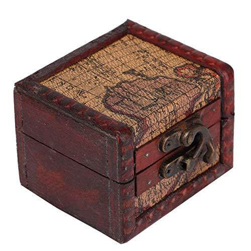 Joyero para oficina electrónica, caja de madera vintage, caja de madera, joya, mini viaje, tamaño de dictáfono