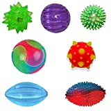 Fiddle Light Up Balls - Tactile Toy Kit (7 Piece Set) - Stress Balls, Sensory Toys - Stress Relief Toys and ADHD...