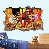 Yxsnow 3D Pegatinas de pared Héroes de dibujos animados incluye tienda 3D Adhesivo Decorativo para Pared Pegatinas Decorativas Pared Para Niños Decoración de la Pared Stickers