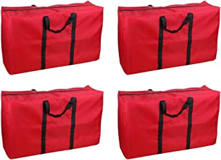 ZHANGLI Large Storage Bags - 4pcs Portable Oxford Cloth Finishing Storage Bag - with Handles Home Storage Bag Extra Large ...