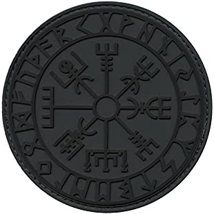 2AFTER1 Vegvisir Viking Compass ACU Subdued Norse Rune Morale Tactical PVC Rubber Fastener Patch:Kostenlosefilme