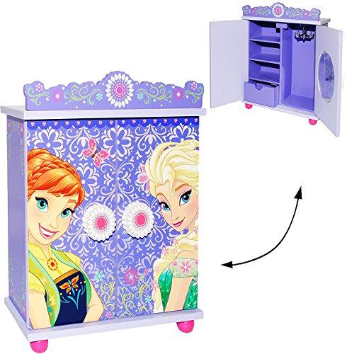alles-meine.de GmbH Holz Schmuckkasten / Schmuckschrank -  Disney die Eiskönigin - Frozen  - mit Spiegel & Schublade - Mädchen - Utensilo -Kinderzimmer - z.B. für Schmuck - Sch..