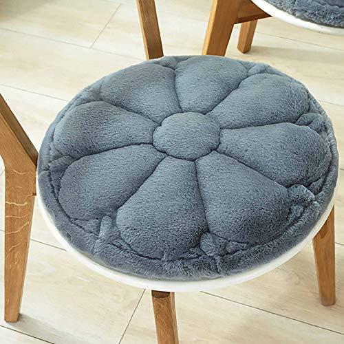 WZLJW Round Desk Chair Cushion,Soft Thick Tufted Armchair Cushion Durable Easy Care Seat Cushions-Blue 40x40cm