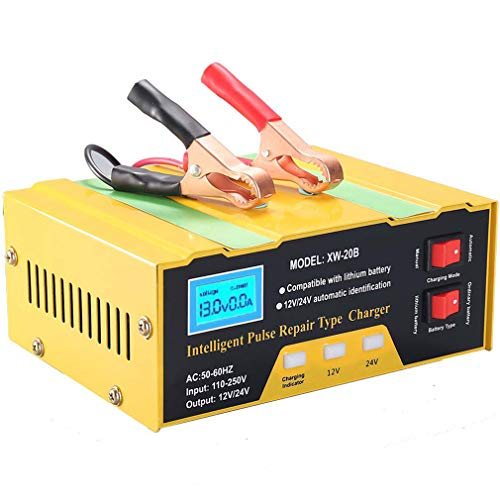 Aibeau Ladegerät Autobatterie 10A 12V/24V KFZ Batterieladegerät Vollautomatisches Intelligentes Erhaltungsladegerät Geeignet für Blei-Säure-Batterie oder Lithium-Batterie