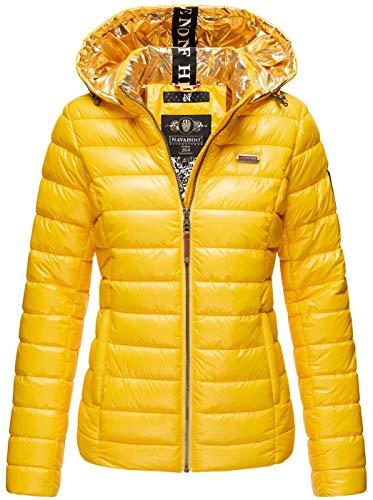 Navahoo Damska kurtka pikowana kurtka przejściowa z kapturem pikowana B858