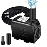 "Best Fountain Pumps - Winkeyes Fountain Pump 200GPH with 63"" Lift, 15W Review"