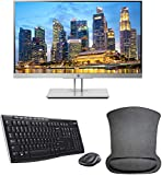 HP EliteDisplay E223 21.5 Inch 1920 x 1080 (1FH45A8#ABA) Full HD IPS LED Backlit Monitor Bundle with HDMI, VGA, DisplayPort, Gel Mouse Pad, and MK270 Wireless Keyboard and Mouse Combo