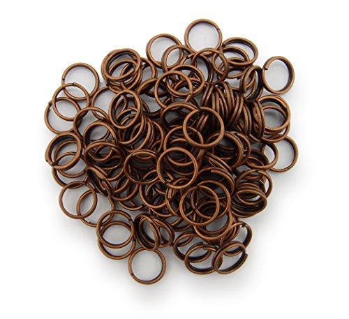 Schlüsselringe / split Rings 8mm Durchmesser Farbe Antik Kupfer 15g ca.100 Stk ▶ Kostenloser Versand ◀
