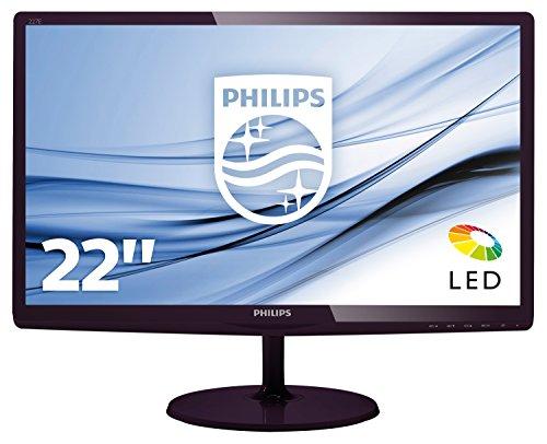 """Philips Monitores 227E6LDAD/00 - Monitor de 22"""" (resolución 1920 x 1080 Pixels, tecnología WLED, Contraste 1000:1, 1 ms, VGA), Color Cerezo Negro"""