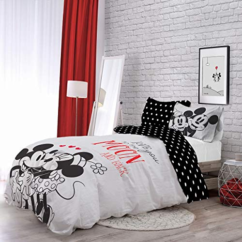 Minnie Mouse'Love You To The Moon' Duvet Quilt Cover Set - Choose Your Size (Single)