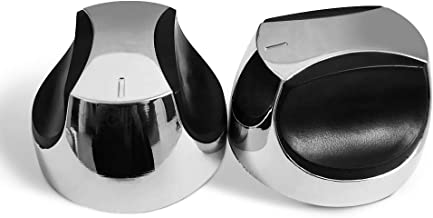 GECOOK 2 Pack Universal Control Knob for Gas Grills Burner, Fits D-Shape Valve Stem Design Gas Grill