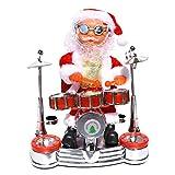 STOBOK Juguete Muñeco Figura de Papá Noel Musical Eléctrico para Decoración de Escrotorio y Mesa de Navidad y Regalo de Niños