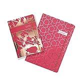 Matilda Myres - Agenda para 2020, de tamaño A6, vista por página, diario, diseño de cardo, color rosa y dorado, color turquesa A6