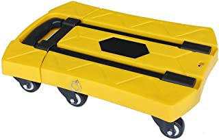 LXF Sack Barrows Trolley Six-Wheel Mute Trailer Household Foldable Mini Portable Truck Multi-Color Optional Sack Truck (Color : Yellow)