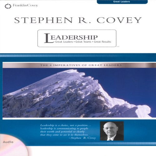 Stephen R. Covey on Leadership audiobook cover art