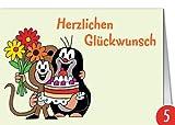 5er-Pack: Grußkarte MINI +++ DER KLEINE MAULWURF von
