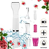 Tokenhigh Lady Electric Shaver, Bikini Trimmer for Women, Women Hair Remover, 4 in