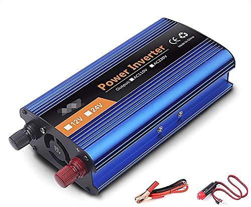KONGLZG Inversor de alimentación de Onda sinusoidal Modificado convertidor de automóvil inversor de energía DC 12V-60V a AC 220V convertidor con Pantalla LED