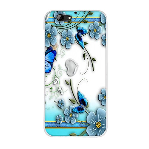 FUBAODA für HTC One A9s Hülle, 3D Reliefmalerei [W&erschöner Schmetterling & Blume] Hochwertigem Stoßfest, Kratzfest, Ultra dünn Schutztasche Hülle für HTC One A9s (5.0