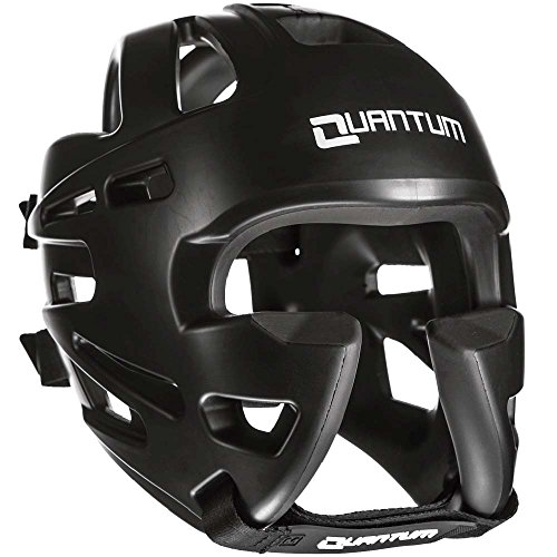 Quantum Kopfschutz XP, Schwarz, Head Guard Protector, Sparring, MMA Größe S