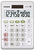 カシオ スタンダード電卓 ミニジャストタイプ 10桁 ホワイト MW-100T-WE-N 1個