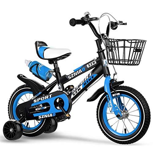 seveni Bicicletas para niños, Bicicleta para niños, niño, Scooter, Bicicleta para niña, 2-16 años, Bicicleta Deportiva para Exteriores, equitación portátil (Color: Azul-C, tamaño: 16 Pulgadas)