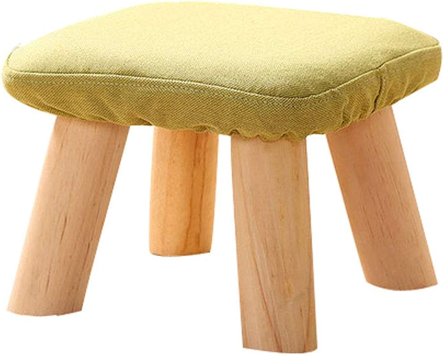 Household Sofa Bench, Removable Washable Stool Cover, Solid Wood Stool Foot, Multi-Purpose Mushroom Stool for Living Room and Bedroom (color   Green)