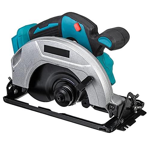 PPuujia Máquina de corte de batería de madera eléctrica sierra circular mango de herramienta eléctrica de eliminación de polvo, máquina de corte multifuncional (color: 7 pulgadas azul)