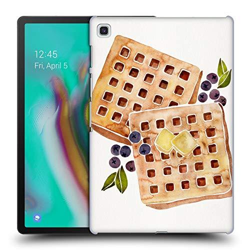 Head Case Designs Offizielle Cat Coquillette Waffles Essen Harte Rueckseiten Huelle kompatibel mit Samsung Galaxy Tab S5e