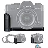 Metal Hand Grip L Bracket for Fuji Fujifilm X-T30 X-T20 X-T10 Anti-Slip Holder, w/Battery Memory Card Compartment Opening & Speaker Hole, Replaces MHG-XT10 [2019 September New & Improved Version]