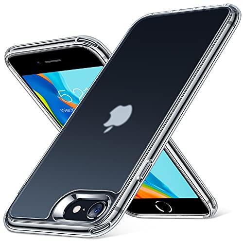 「2021年新開発・半クリア」TORRAS iPhone se2 用 ケース iphone8 用 ケース iphone7 用 ケース マット感 超耐衝撃 米軍MIL規格取得 黄ばみなし 指紋防止 薄型 アイフォン SE 第2世代 7 8 用カバー マット・クリア