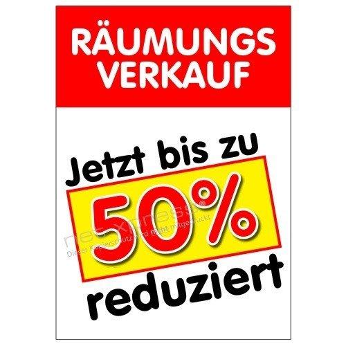 Cartel Ventas de Liquidación hasta 50% Reducido A1, Cartel de Publicidad Cartel Conversión