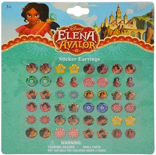 Disney Girls Elena 24 Pair Sticker Earrings (2 Pack)