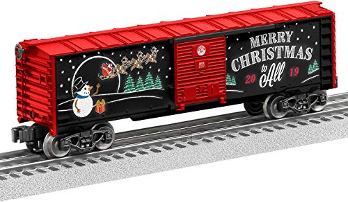 Lionel 2019 Christmas, Electric O Gauge Model Train Cars, Boxcar