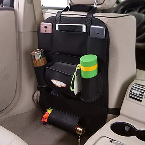 Los asientos del coche Organizador Organizador del asiento trasero del coche for niños con soporte for tableta con pantalla táctil Kick Mat Protectores del respaldo del asiento con bolsa de almacenami