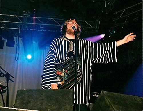 "Ebbot Lundberg of band""The Soundtrack of Our Lives"" at the Lollipop Festival - Vintage Press Photo"